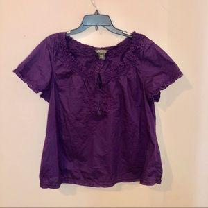 EDDIE BAUER purple blouse